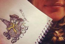 Tegninger, skisser, bilder,