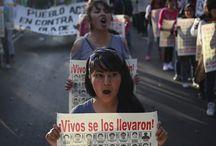 la lucha sigue! La protesta en vivo! / Protesta de Mexico y el Mundo