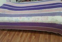 Tığ işi Yatak örtüsü - battaniye / Tığ işi yatak örtüsü - battaniye
