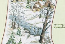 Vyšívání - vánoce