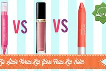 Lip Stain V.S. Lip Gloss V.S. Lip Balm / Ever wondered what the difference is between a lip balm, gloss and stain? Here is our guide to choosing the right lip products for your life. Read more on our blog.