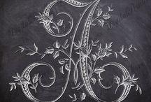 ✿ڿڰۣ(̆̃̃• Our Chalkboard Alphabet & Prints •✿ڿڰۣ(̆̃̃