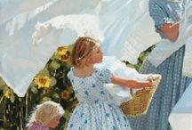 çocuklar ve çiçekler