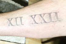 Tatoo chiffres romains