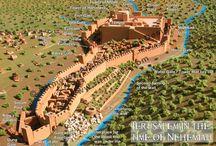 Oto wizerunek muru otaczającego Jerozolimę, że Nehemiasza przebudowany