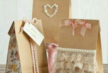 Brown gift bags