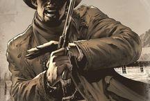 western ilustration