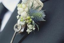 Bouquet / Bouquet and button hole ideas, Pirates, Eryngium, diamonds, pearls