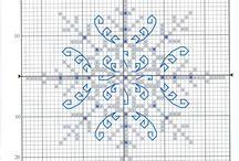 Winter/xmas stitches