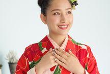 袴 ネイルアート / http://mhc-s.jp 卒業袴スタイルを仕上げるネイルアートサンプルです。