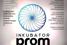 INKUBATOR PROM - visual identity / PLAKAT / ULOTKA DWUSTRONNA / KSIĘGA ZNAKU / BANER / TABLICZKA  klient: Promocje Unijne 2014