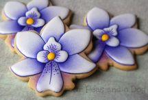 пряники цветы