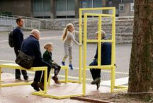 Temporary taxi stops / Installations by Izabela Boloz - temporary taxi stops which add a positive vibe to the waiting experience.  #architecture #busstop #installation #design #izabelaboloz