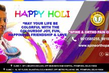 Spine Ortho Pain extends COLORFUL  Holi Greetings