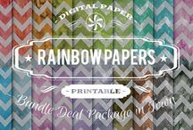RAINBOW PAPERS / DIGITAL PAPERS - RAINBOW PAPERS