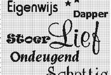 Kruissteek letters cijvers