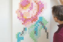 Jumbo cross stitch art