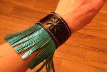 Handmade Western Leather Bracelets and Key Fobs