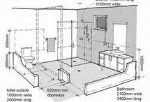 Washroom for interiors