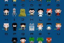 Geeky cross stitch
