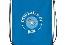 """Petit Bazar / Des t-shirts de sport et des sacs à dos où ranger le """"Petit Bazar"""" des activités de vos enfants toute l'année !"""