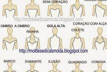 nome de decotes de vestido