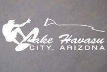 Lake Havasu City Arizona Wakeboarding / Lake Havasu City, AZ Arizona Wakeboarding Car Boat Truck Window Decals - Wake Boarding - Water Skiing - Lake Havasu - http://shop.sdsticker.com/products/