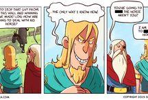 Norse Mythology Comics / It's funny, because it's true.