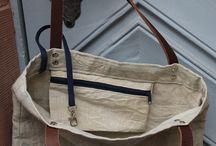 Tasche mit innentasche und reisverschluss