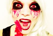 Halloween 2014 / Makeup: Theather Male Up white/ black/ red Wig: Cosplay wig from Hongkong white silver Time: 30 min