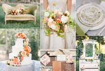 Autumn shoot - country house wedding in relaxed boho style / Romantic, ethereal bridal inspiration with bohemian feel in an Autumn-inspired colour palette of forest greens, peaches, creams, golds & cocoa shades.