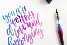 Watercolor typography