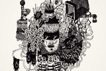 Marie Lemaistre / Directrice Artistique / Zee  / Marie, DA de jour chez Zee Agency et illustratrice de nuit, propose un univers fait de squelettes, pyramides et robots hurlants. Son influence, mélange de dessins-animés, bd, et graffiti contribue à nourrir son travail et diversifier ses supports. Elle s'exprime alors au crayon et au pinceau, sur papier et sur les murs. / by True Talents Gallery