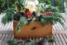 Christmas table decorations centerpiece