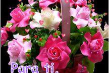 canasta con Muchas flores