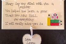 Teacher, Nursery, Childminder Gift Plaques