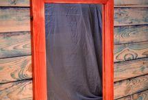 Mirror / ...a mirror in a wooden frame