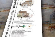 Ristrutturazione edilizia casa degli artisti / Il progetto di ristrutturazione edilizia, si propone di fornire all'edificio tutti gli elementi tecnico-funzionali, tali da renderlo compatibile, nel rispetto della tecnica e delle caratteristiche costruttive, sia con la tradizione locale che la natura rurale dell'edificio. Verranno organizzati cantieri scuola in auto recupero, per insegnare le tecniche di finitura eseguite con materiali naturali.
