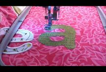 Appilique machine embroidery