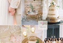 Shades of gold wedding theme