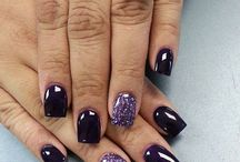 beautiful dark nail polish