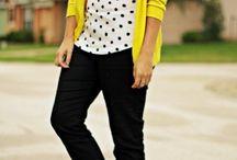 Polk a dot shirt outfits