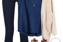 Blue top outfit