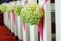 Bryllup - blomster kirke