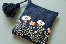 embroidery bag and pouch