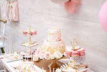Swan - pink, white & gold