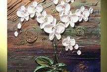 Flores brancas Textura