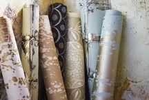 Behang, stoffen en verf ideeen