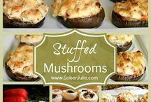 Brown mushrooms filling