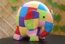 Softies and fabric bins / Авторские игрушки и текстильные корзинки для хранения мелочей